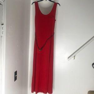 Calvin Klein Dress w Brown Belt